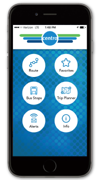 gocentrobus app home screen